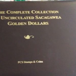 """Collection of """"Sacagawea"""" Unciculated Golden Dolla"""